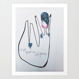 Her Joy Spread Like Wildflowers by: Michelle Morrison Art Print