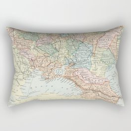Vintage Map of Russia Rectangular Pillow