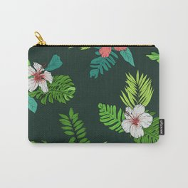 Hawaiian Vintage Tropical Flowers Carry-All Pouch
