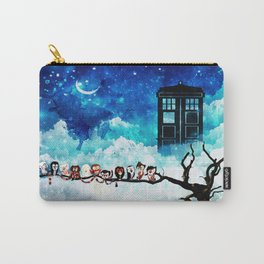 Owl Tardis Starry Night Carry-All Pouch