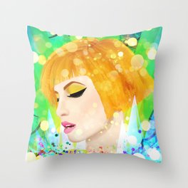 Digital Painting - Hayley Williams Throw Pillow