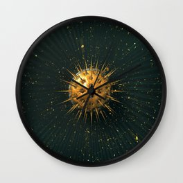 Abstract Dark Sphere Wall Clock