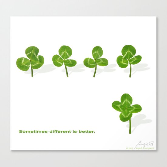 Sometimes different is better. Canvas Print
