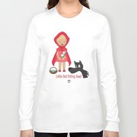 red riding hood Long Sleeve T-shirts featuring Little Red Riding hood by MyimagesArt