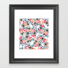 Tiny Floral Framed Art Print