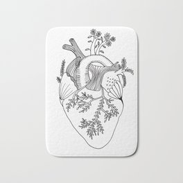 Growing heart Bath Mat