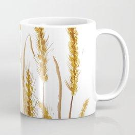 golden wheat field watercolor Coffee Mug