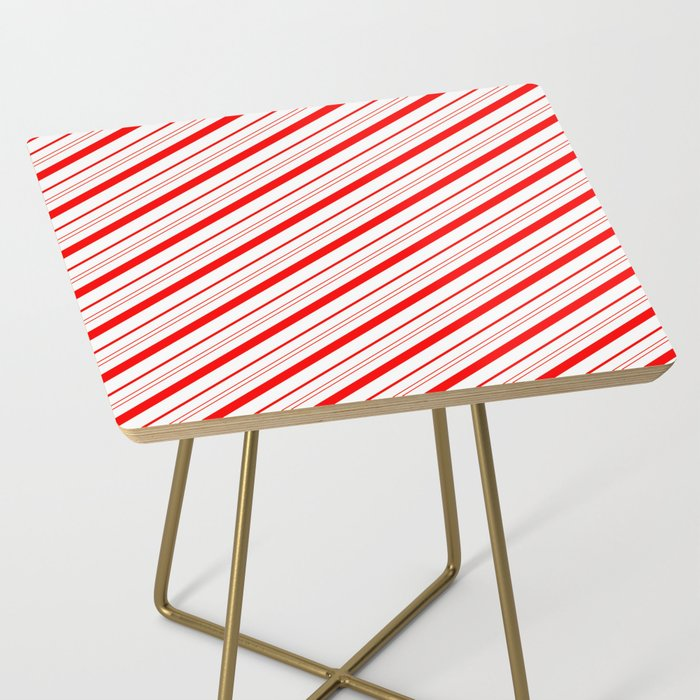 Candy Cane Stripes Side Table