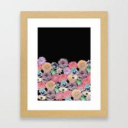Pink Rose Floral Framed Art Print