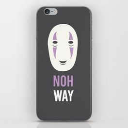 Noh Way Spirited Away Minimalist iPhone Skin