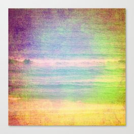 Abstract grunge ocean view Canvas Print