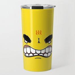 Yellow Smileys - Angry Travel Mug