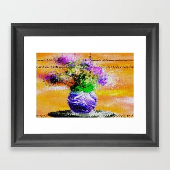 Floral still lifes. Framed Art Print