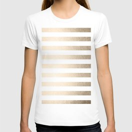 Simply Striped in White Gold Sands T-shirt
