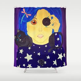 Be Brave - Coraline Fan Art Shower Curtain