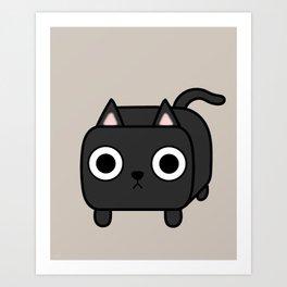 Cat Loaf - Black Kitty Art Print