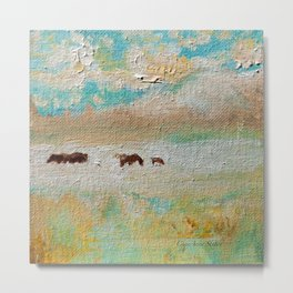 Wild Horses Summer Shimmer by CheyAnne Sexton Metal Print