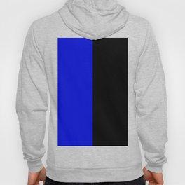 Psychedelic black and blue stripes V. Hoody