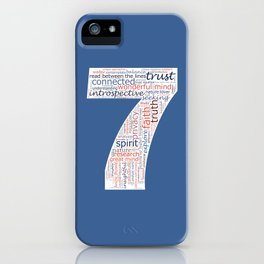 Life Path 7 (color background) iPhone Case