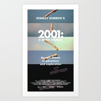 2001 a space odyssey Art Prints featuring 2001: a space odyssey by Lucas Preti