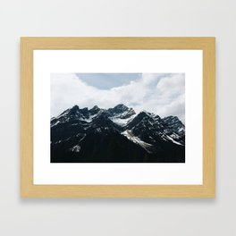 Mountains In Icefield Parkway Framed Art Print