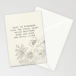 what is stronger than the human heart - R. Kaur Collection Stationery Cards