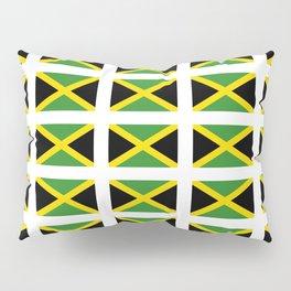 Flag of Jamaica 2-Jamaican,Bob Marley,Reggae,rastafari,cannabis,ganja,america,south america,ragga Pillow Sham
