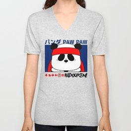 Panda (Hadouken) Unisex V-Neck