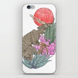 Antelope Illustration iPhone Skin