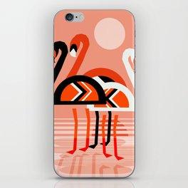 Posse - flamingo throwback nostalgia retro neon art print hipster trendy style minimal abstract geo iPhone Skin