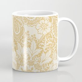 Floral in Yellow Coffee Mug