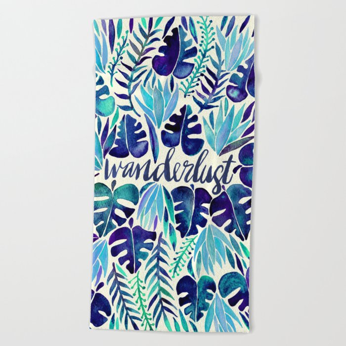 Tropical Wanderlust – Blue Beach Towel