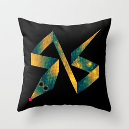 Snake Exploring Space Throw Pillow