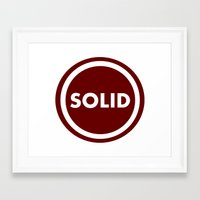 solid Framed Art Prints featuring SOLID by Mariyas