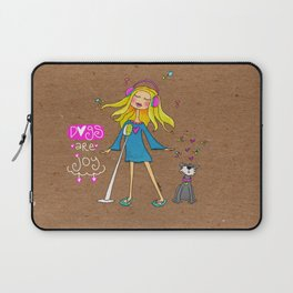 Dogs Are Joy Laptop Sleeve
