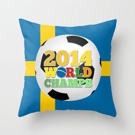 2014 World Champs Ball - Sweden Throw Pillow