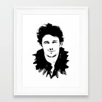 james franco Framed Art Prints featuring james franco by looseleaf