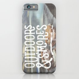 outdoors & S'mores iPhone Case