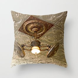 In the Coffee Bear Cafe of the 1883 Grand Imperial Hotel, in Silverton Throw Pillow