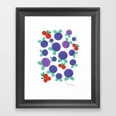 Berry Picking in Finland Framed Art Print