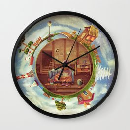Friendly small Planet Wall Clock