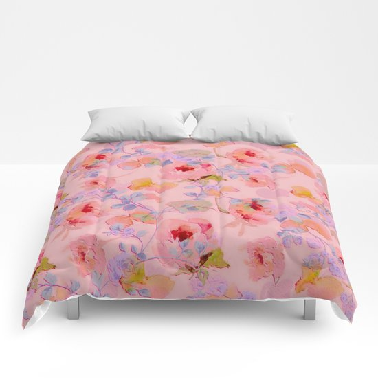 girly floral Comforters
