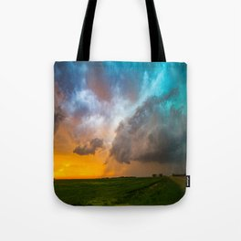 Glorious - Stormy Sky and Kansas Sunset Tote Bag