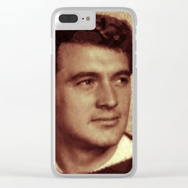Rock Hudson Clear iPhone Case