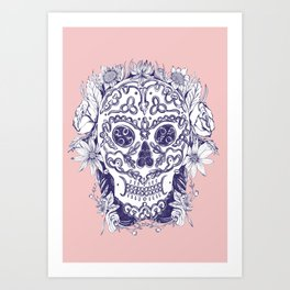Beautiful right down to the bones-Pink Art Print