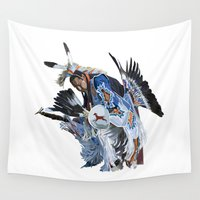 dancer Wall Tapestries featuring Indian Dancer by Robin Curtiss