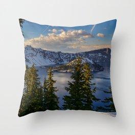 Crater Lake - Spring Throw Pillow