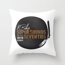 K - Billy´s Super Sounds of the Seventies Throw Pillow