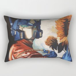 Optimus Prime With Sunflower Rectangular Pillow