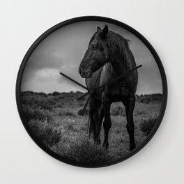 Black Stallion Wall Clock